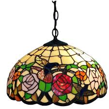Tiffany Dining Room Lights Details About Hanging Pendant Lamp Lighting Tiffany 2 Light Hummingbirds Floral Dining Room