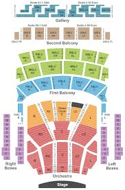 Detailed Chicago Theatre Seating Chart With Seat Numbers