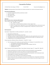 8 Performing Arts Resume Template Address Example