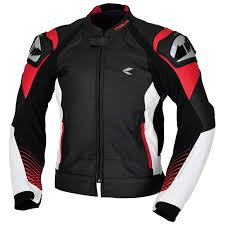 gmx lite vented leather jacket color black red