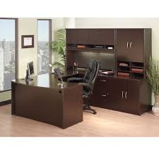 bbf bush series c package executive u shaped desk mocha cherry mocpackageb bush home office furniture