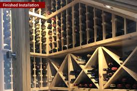 under stairs pine wine racking provided by wineware co uk