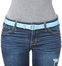 Adjustable Stretch Belt No Show Flat Buckle Non Slip