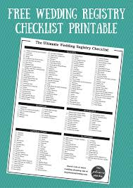 wedding registry list. The Ultimate Wedding Registry Checklist Free Printable