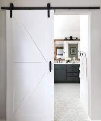 A Surprisingly Simple Diy Bathroom Barn Door Domestic Blonde