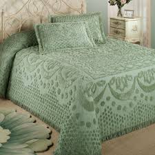 kingston pastel tufted chenille bedspread