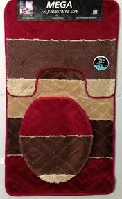 burdy 3 piece oversized bath rug set 1 rug 1 contour 1 lid cover in on alibaba com
