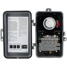 24 hour outdoor mechanical box timer