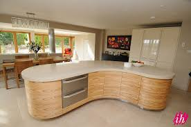 modern curved kitchen island. Interesting Island Modcurvedwoodu0026glossimg007  On Modern Curved Kitchen Island