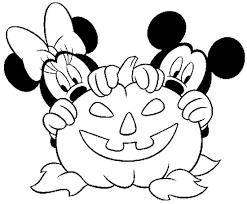 Disegno Di Halloween Minnie E Topolino Da Stampare Gratis E Colorare