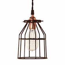 minimalist copper cage pendant barn light electric regarding wire ideas 2