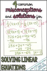 solutions for solving linear equations