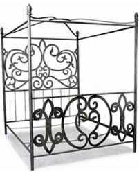 Corsican Corsican Queen/ King Wrought Iron Canopy Bed, Silver from Overstock | BHG.com Shop