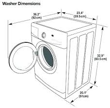 Washer And Dryer Sizes Chart What Is A Standard Size Washer Hangovercure Co