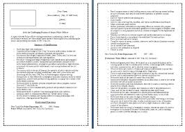 absolutely smart police officer cover letter 14 sample - Sample Resume  Police Officer