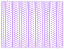 3 Dimensional Graph Paper 1mm Purple Full Page Land A3