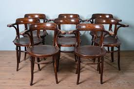 set of 8 1930s bentwood dining chairs