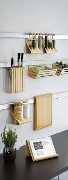 ikea rimforsa storage steel strips with bamboo holders fresh kitchen wall storage