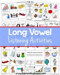 By the way, people who are looking for a vowel flashcards might also be interested in using my very simple a letter song. Free Long Vowel Printables This Reading Mama