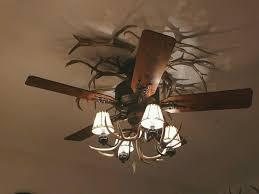 rustic ceiling fans. Unique Antler Rustic Ceiling Fans With Lights