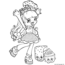 Shopkins Coloring Pages For Girls