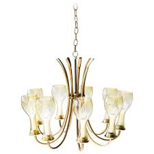 mid century brass chandelier for lightcraft of california for