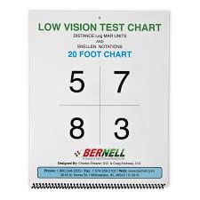 Eye Test Chart For Phone Low Vision Distance Acuity Chart Acuity Charts Bernell