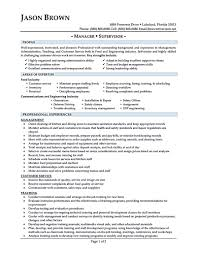 Restaurant Manager Resume Resumes Example General Summary