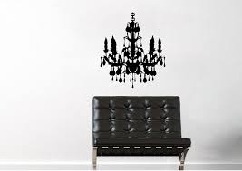 retro chandelier wall stickers