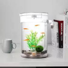 fish for office. Self Cleaning Plastic Fish Tank Desktop Aquarium Betta Fishbowl For Office Home Decor