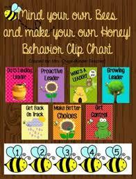 Mind Your Own Bees Behavior Chart Mrs Chase Kindergarten