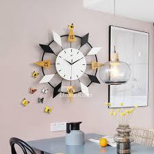 cool large wall clocks decorative white