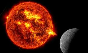 extremely fast particles from the sun hit mercury credit nasa montage tu wien
