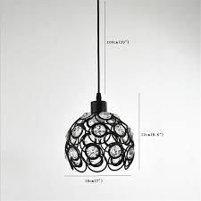 brightness modern crystal pendant lights mini style painting metal living room bedroom dining room