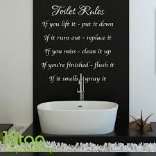 other wallpapers ebay toilet ruleswall stickers quoteswallpaper  on toilet wall art quotes with toilet rules wall sticker quote bathroom home wall art decal x131