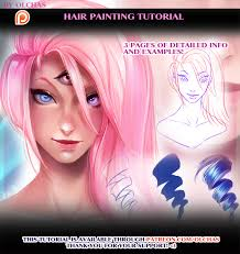 hair painting tutorial preview by olchas
