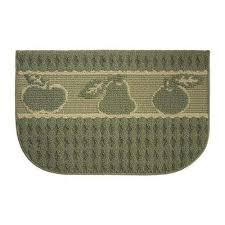basic fruit textured loop sage berber 18 in x 30 in kitchen rug