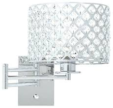 sconces possini wall sconce euro glitz 9 wide plug in swing arm lamp contemporary lighting