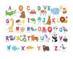 Animal Abc Chart Animal Alphabet Print Printable Abc Chart Kids Wall Art Safari Nursery Decor Alphabet Letter Kid Room Decor Nursery Animal Abc Wall Print