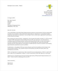 Retail Cover Letter Sample Retail Cover Letters 8 Free Word Pdf Format Download