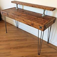 rustic home office desks. PC Table-Computer Desk-Rustic Reclaimed Waxed Wood Industrial-Table Desk -Writing Rustic Home Office Desks