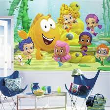 >bubble guppies xl wall mural 10 5 x 6 roommates decorate a space with bubble guppies xl wall mural
