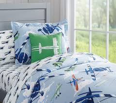 vintage airplanes duvet cover pottery barn kids