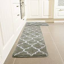 kitchen rug set leevan moroccan microfiber non slip tpe rubber backing soft absorbent comfort area runner mat floor carpet for kitchen bathroom