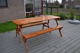 picture of convertible bench table
