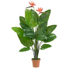 58 inch Artificial Bird of Paradise Plant: Potted