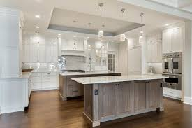 white and driftwood kitchen