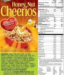 honey nut cheerios nutrition label world of label in cheerios food label