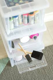diy decorated storage boxes. Paint Stored In A Clear Storage Box With Easy Access Door Diy Decorated Boxes