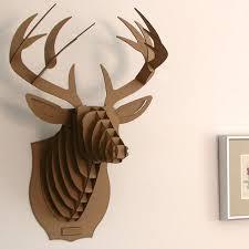 deer head for wall deer head wall mount model puzzle cardboard animal decor reindeer head wall